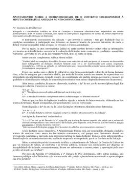 3. Apontamentos sobre a obrigatoriedade de o contrato