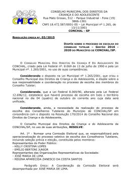 Resolução da Comissão Eleitoral Conchal 2015