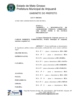 Leis nº 900/2010 - Prefeitura Municipal de Aripuanã