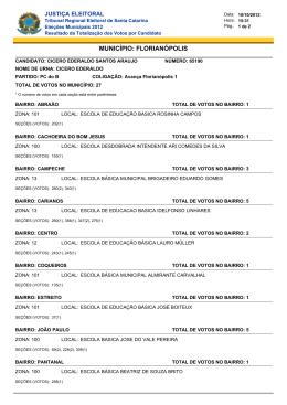 cicero ederaldo santos araujo - Tribunal Regional Eleitoral de Santa