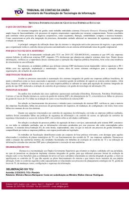Informativo - Tribunal de Contas da União