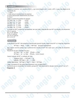 Page 1 1 Deseja-se armazenar uma solução de NiCl2, cuja