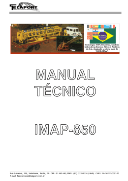 Manual - Tecnologia Autoportante IMAP-850