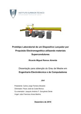 Protótipo Laboratorial de um Dispositivo Lançador