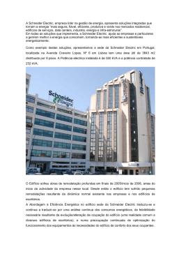 A Schneider Electric, empresa líder na gestão de energia, apresenta