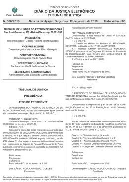 12 - Tribunal de Justiça de Rondônia