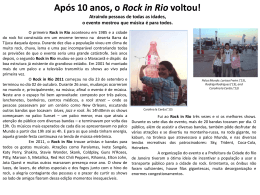 Após 10 anos, o Rock in Rio voltou!