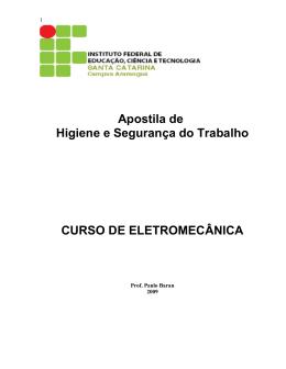 Apostila de Higiene e Segurança do Trabalho - Wiki do IF-SC