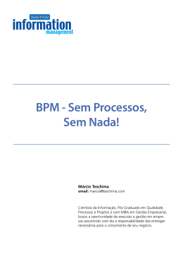 BPM - Sem Processos, Sem Nada! - Portal Information Management
