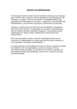Revista de empregados - Ricardo Trotta Advocacia