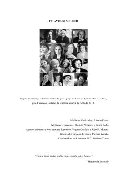 PALAVRA DE MULHER Projeto de mediação literária realizado