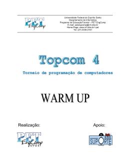 Warm up - Torneio de Programação de Computadores