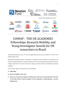 CONFAP – THE UK ACADEMIES Fellowships