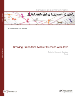 Brewing Embedded Market Success with Java