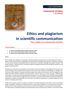 Ethics and plagiarism in scientific communication