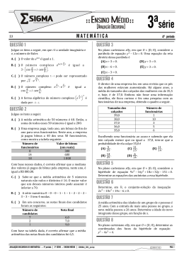 Matemática - Centro Educacional Sigma