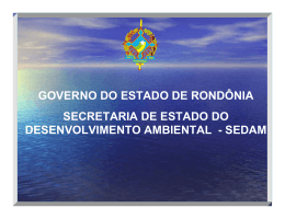 sedam - Ministério do Meio Ambiente