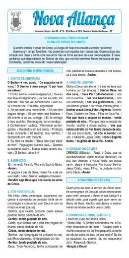 02/03/2014 - Diocese de São José dos Campos