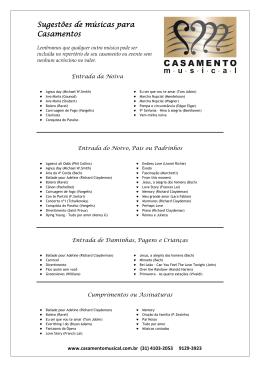 CONTEÚDO DO SITE - REPERTÓRIO