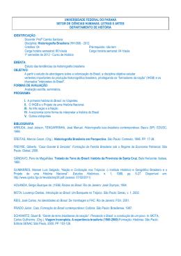 HH068 – Historiografia Brasileira