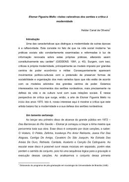 Elomar Figueira Mello: visões valorativas dos sertões e crítica à