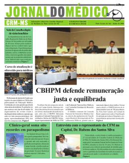 CBHPM defende remuneração justa e equilibrada