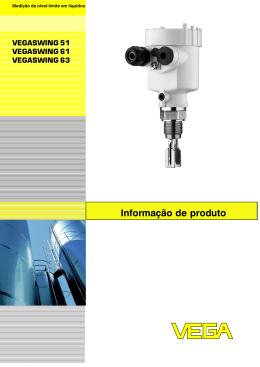 Informação de produto VEGASWING 51 / VEGASWING 61