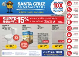 DESCONTO DE - Santa Cruz Acabamentos