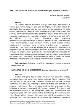 SANTA CRUZ DO SUL & OKTOBERFEST: tradução ou