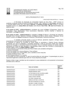 Pág. 1/33 UNIVERSIDADE FEDERAL DE OURO PRETO