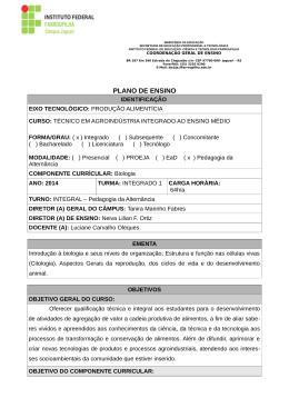 Biologia - Câmpus Jaguari - Instituto Federal de Educação, Ciência