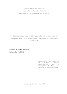 Dissertação O Exército encantado de São Sebastião