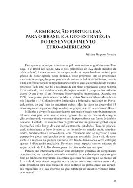 a emigração portuguesa para o brasil e a geo