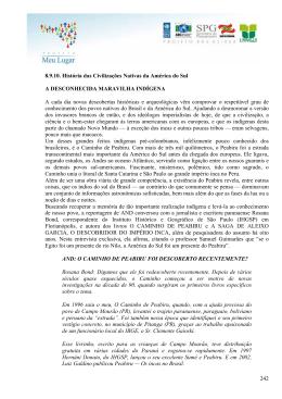 242 8.9.10. História das Civilizações Nativas da América do Sul A