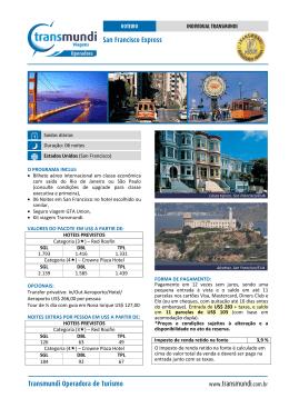 San Francisco Express Transmundi Operadora de Turismo www