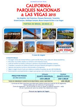 california parques nacionais & las vegas 2015