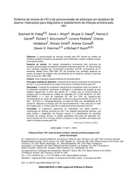 Dinâmica da viremia do HIV e da soroconversão de