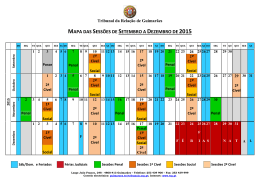mapa das sessões de setembro a dezembro de 2015