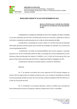 Resolução CONSUP nº 35/2015