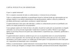 CAPITAL INTELECTUAL DO APOSENTADO O que é o