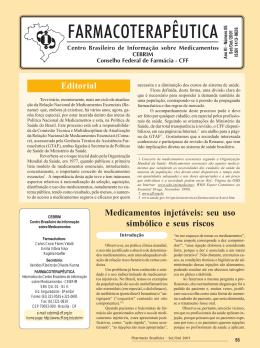Boletim Farmacoterapêutica - Conselho Federal de Farmácia