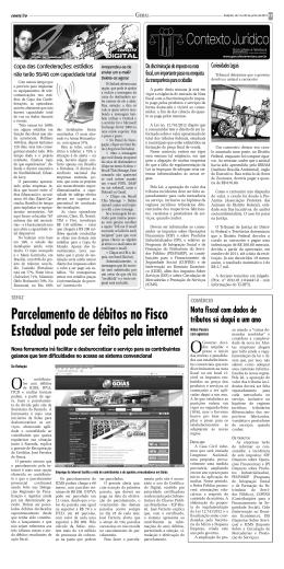 Parcelamento de débitos no Fisco Estadual pode ser feito pela