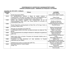 UNIVERSIDADE DO CONTESTADO CANOINHAS/PORTO UNIÃO