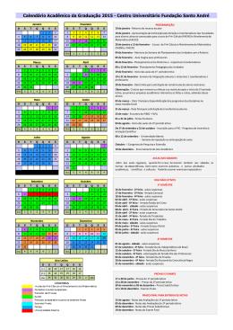 Calendário Acadêmico da Graduação 2015