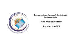 Plano Anual de Atividades - Agrupamento de Escolas de Santo André