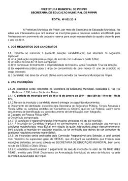 edital - Prefeitura de Piripiri – PI