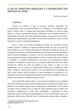 o uso do território brasileiro e a segmentação dos serviços de saúde