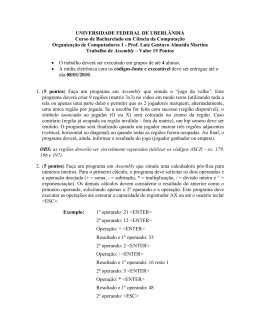 Assembly - Facom - Universidade Federal de Uberlândia