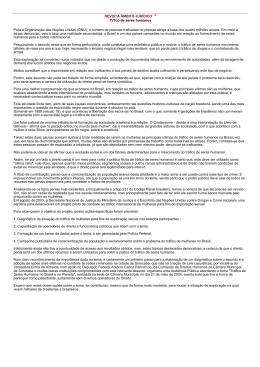 REVISTA ÂMBITO JURÍDICO ® Tr?co de seres humanos Para a
