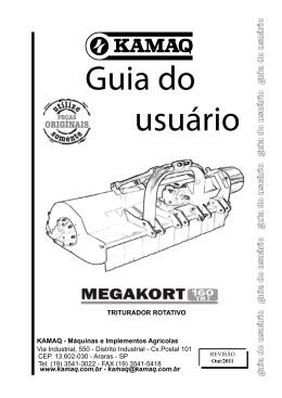 Guia do Usuário/Catálogo Peças MEGAKORT 160TR II